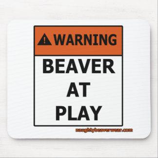 Warning Beaver At Play Mouse Pad