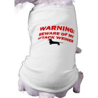 Warning Beware of Attack Weiner Dog Dog Shirt
