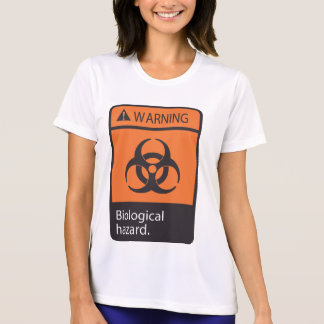 Warning Biological Hazard Womens Active Tee