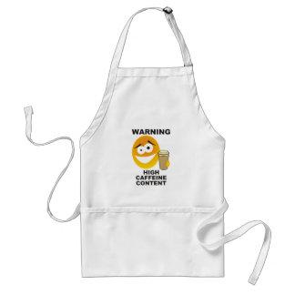 warning caffeine standard apron