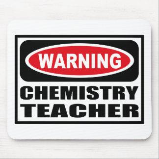 Warning CHEMISTRY TEACHER Mousepad