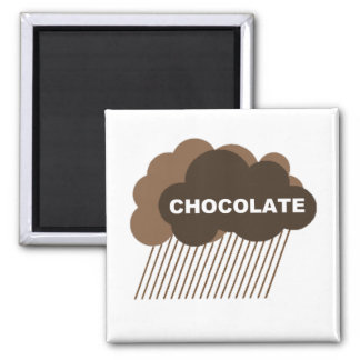 Warning: Chocolate Rain Square Magnet