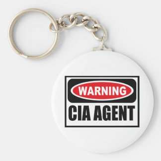 Warning CIA AGENT Key Chain