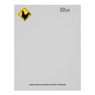 Warning; Cocky! Letterhead