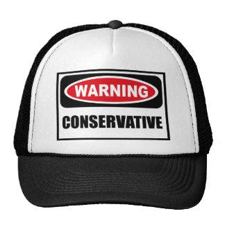 Warning CONSERVATIVE Hat