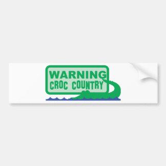 WARNING croc country! crocodile design Bumper Stickers