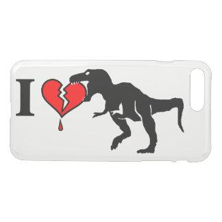 Warning! dinosaur eats heart iPhone 8 plus/7 plus case