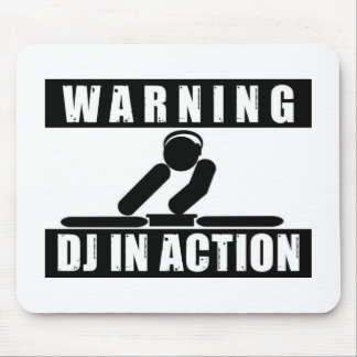 Warning DJ in Action mouse pad