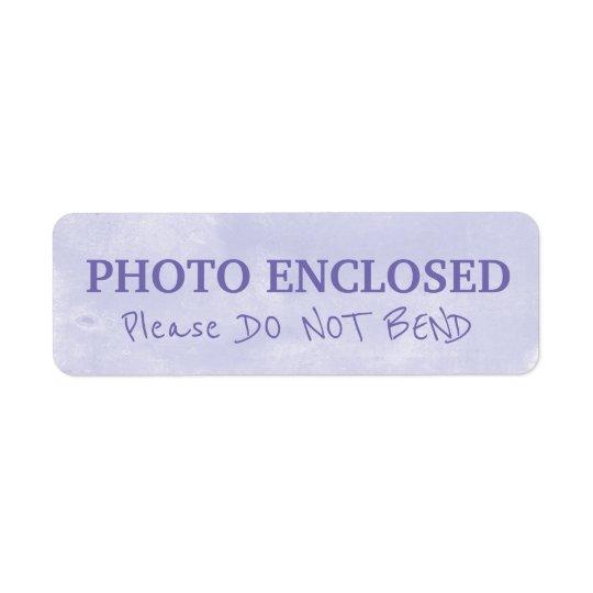 Warning Do Not Bend Painted Chalk Artwork Purple Return Address Label