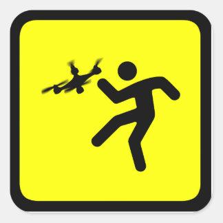 Warning Drones Square Sticker