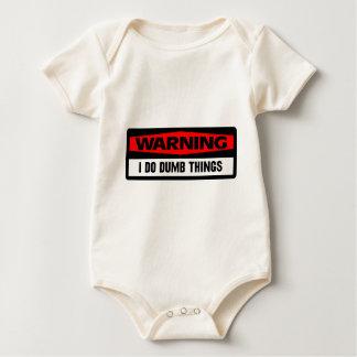 warning dumb things bodysuit