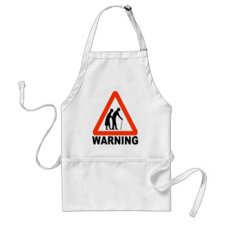 Warning - Elderly Crossing Standard Apron