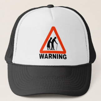 Warning - Elderly Crossing Trucker Hat