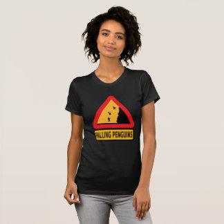 Warning falling penguins funny t-shirt