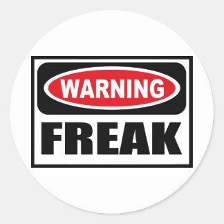 Warning FREAK Sticker