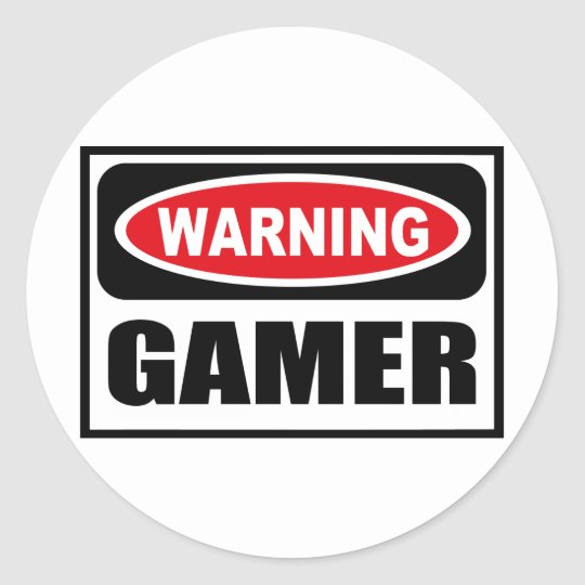 Warning GAMER Sticker