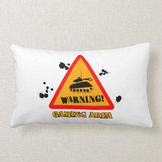 Warning Gaming Lumbar Pillow 33 cm x 53 cm