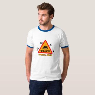 Warning Gaming Ringer T-Shirt