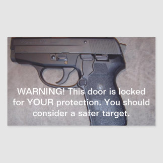 Warning Gun Sticker