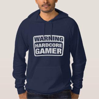 Warning Hardcore Gamer Hoodie