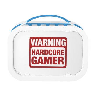 Warning Hardcore Gamer Lunch Box