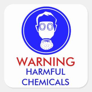 Warning Harmful Chemicals sticker