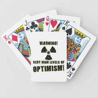 Warning! High Levels of Optimism! Bicycle Playing Cards