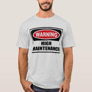 Warning HIGH MAINTENANCE Men's T-Shirt