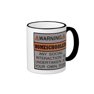 Warning! Homeschooled! Mugs
