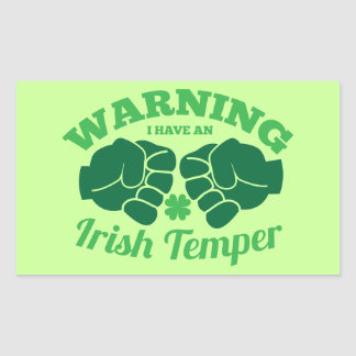 WARNING I have an Irish Temper! from Awesome Irish Sticker