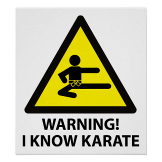 Warning Karate Poster