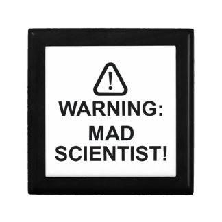 Warning Mad Scientist Gift Box