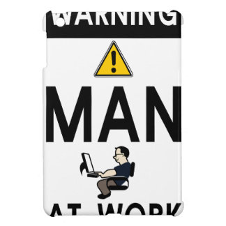 Warning Man At Work iPad Mini Cover