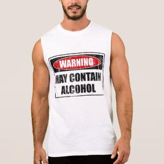 Warning May Contain Alcohol Sleeveless Shirt