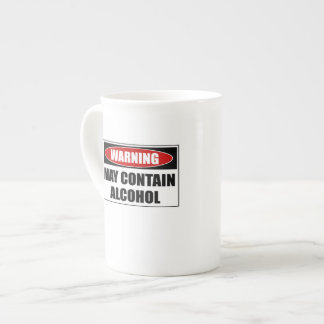 Warning May Contain Alcohol Tea Cup
