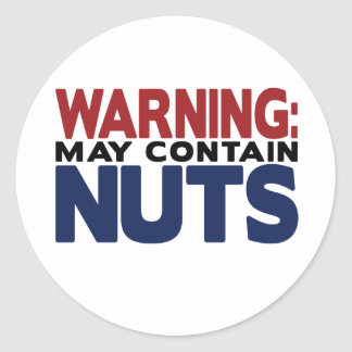 WARNING: MAY CONTAIN NUTS Sticker