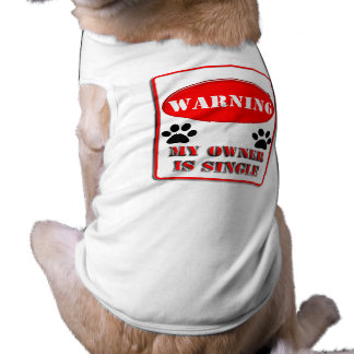 Warning My Owner is Single Shirt