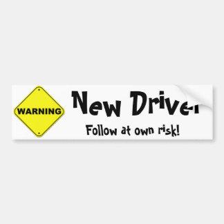 Warning: New Driver Car Bumper Sticker