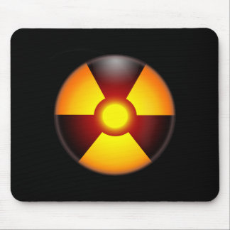 Warning Nuclear Radiation Sign Mouse Pad