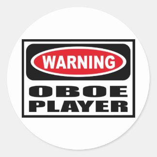 Warning OBOE PLAYER Sticker