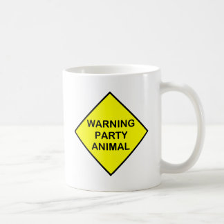 warning Party Animal Classic White Coffee Mug