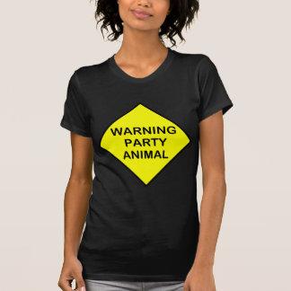 warning party animal tees