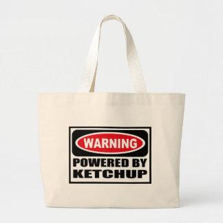 Warning POWERED BY KETCHUP Bag