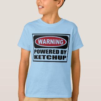 Warning POWERED BY KETCHUP Kid's T-Shirt