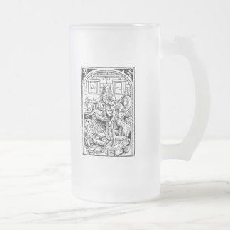 Warning: prone to shenanigans & malarkey. (Rightie Frosted Glass Beer Mug