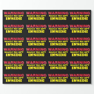 "WARNING Really Big Gift Wrapping Paper 30""x6'"