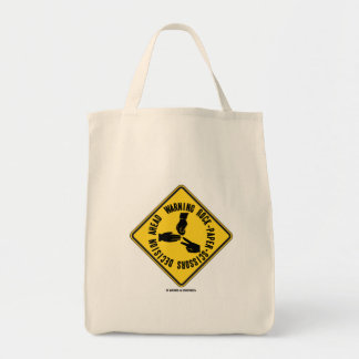 Warning Rock-Paper-Scissors Decision Ahead Sign Tote Bag