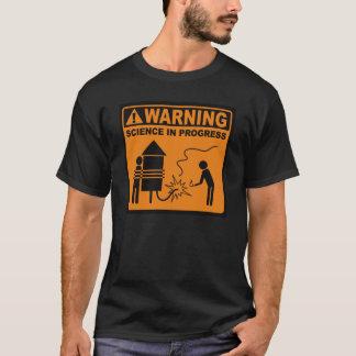 Warning!  Science in Progress© (Rocket) T-Shirt