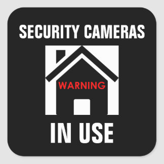 WARNING SECURITY CAMERAS IN USE STICKER