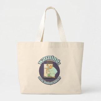 Warning: Serial Midnight Snacker Large Tote Bag